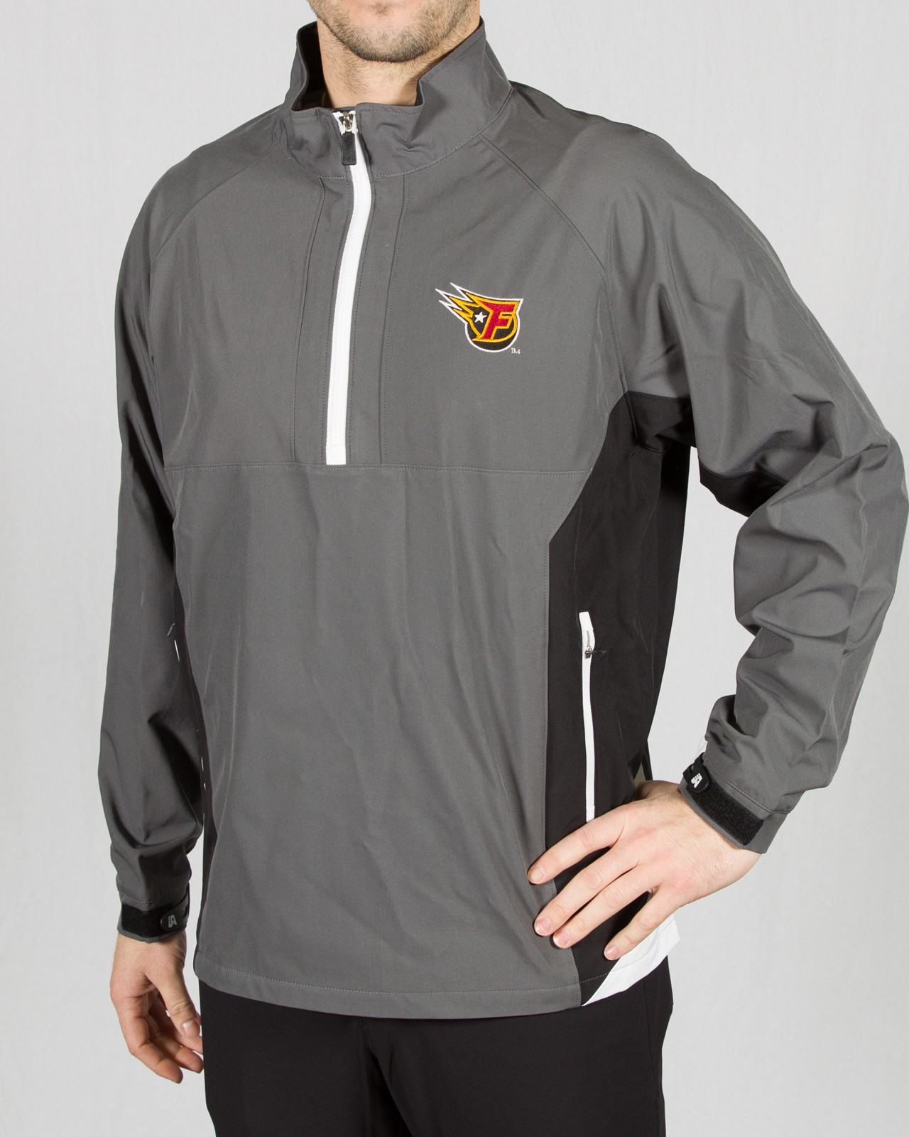 Black/Gray Sideline 1/4 Zip Jacket