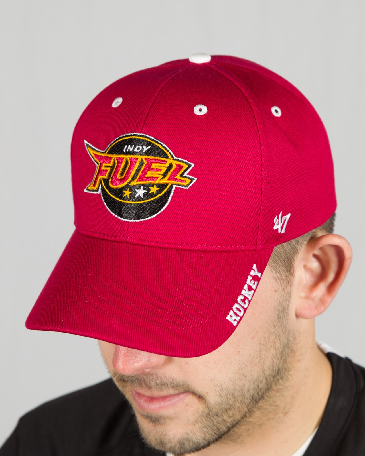 Frost Dark Red Adj. Hat
